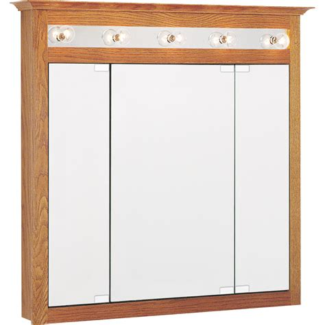 surface mount medicine cabinet lowes in x 36in oak lighted oak surface mount medicine cabinet