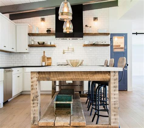 kitchen black and white kitchen island table industrial style black kitchen hood with wood floating shelves country