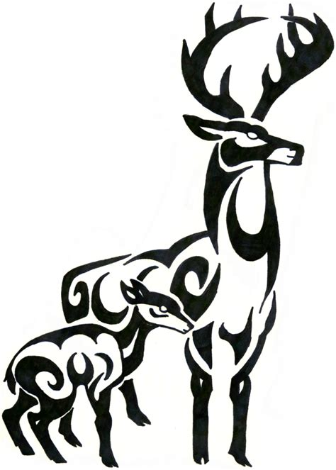 tribal pattern deer tribal deer clipart best