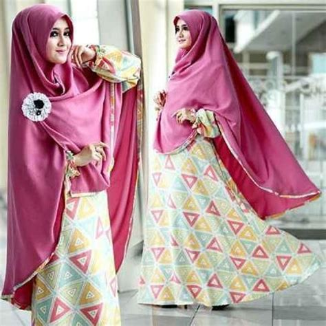 1 Set Gamis Kerudung Syar I baju muslim model gamis dan syar i laudia syar i