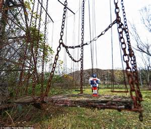 haunted swing ride attraction built on indian burial ground has been