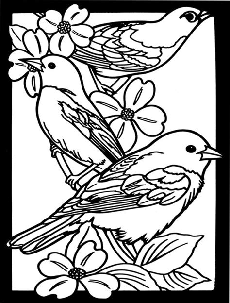 stained glass coloring book favorite birds stained glass coloring book dover