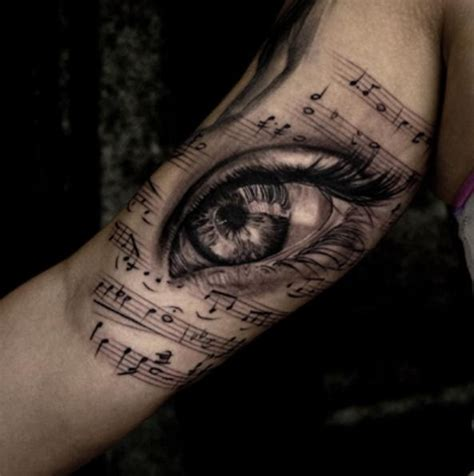 pinterest tattoo music black grey tattoo music notes eye tattoo awsome