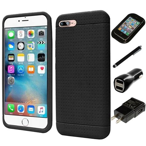 for apple iphone 7 plus rugged thick silicone grip soft skin charger stylus ebay