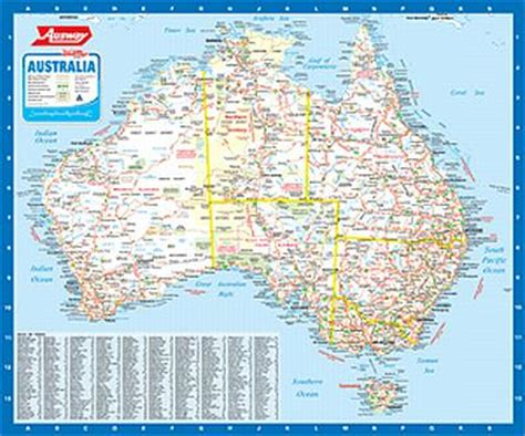 scale map of australia laminated and hang rails aust south east australia