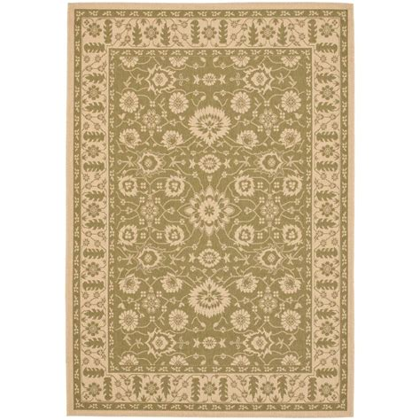 Safavieh Outdoor Rugs Safavieh Courtyard Green 4 Ft X 5 Ft 7 In Indoor Outdoor Area Rug Cy6126 24 4 The