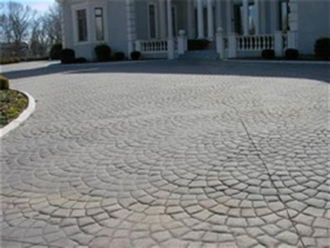 stamped concrete driveway how much do they cost? are