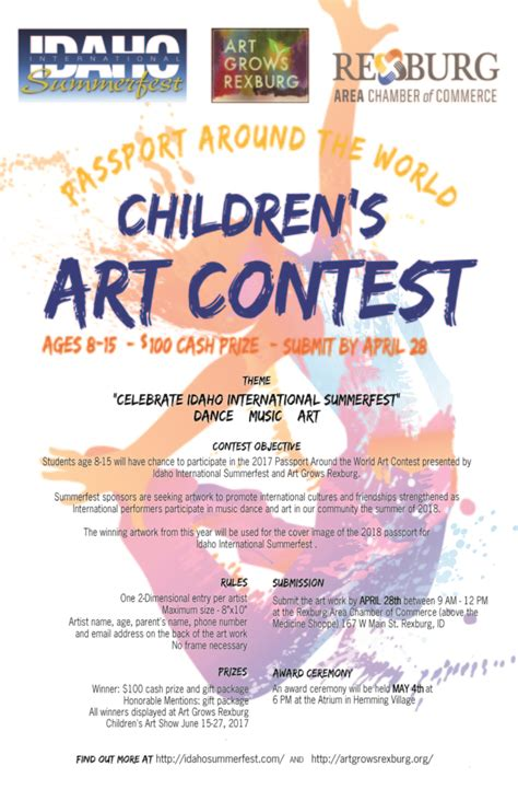 Drawing Contest For Kids Win Money - children s art contest rexburg area chamber of commerce connect partner prosper