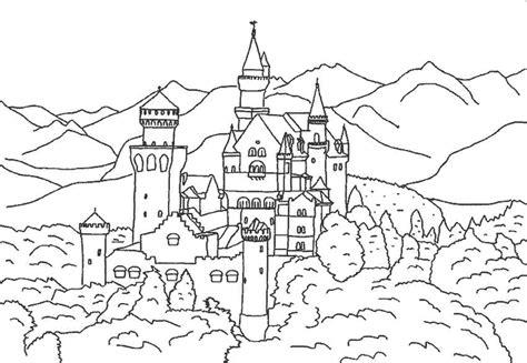 castle moat coloring page canalred gt plantillas para colorear de arquitectura