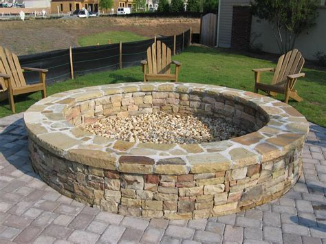 Stone Fire Pits Large Med Art Home Design Posters