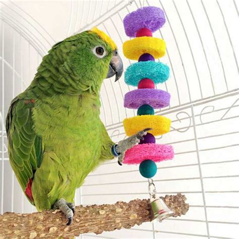 Handmade Parrot Toys - colorful bird parrot toys lovely colorful blocks parakeet