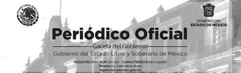 gaceta del gobierno del estado de mexico 2016 gaceta edomex 2016 fme contadores calendario oficial