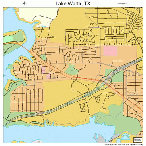 texas lake maps lake worth texas map 4841056