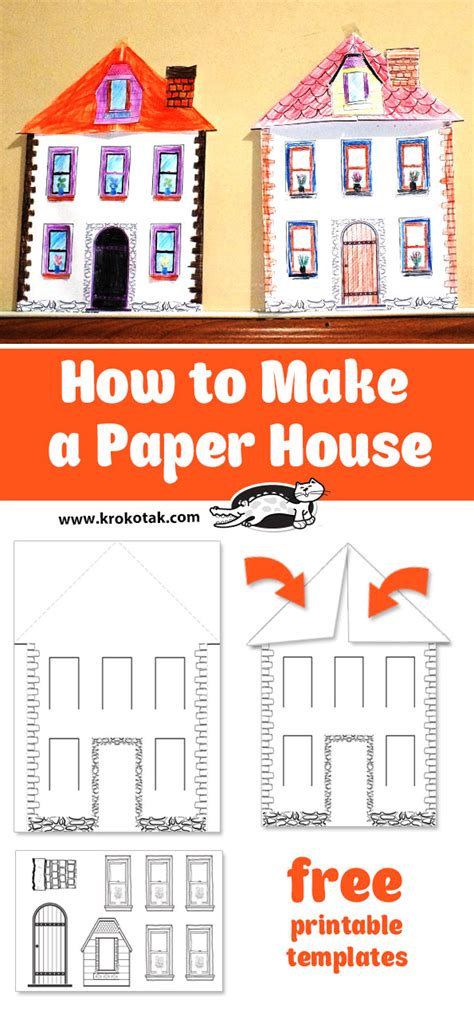krokotak how to make a paper house