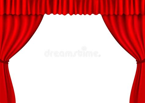 red velvet drapes background with red velvet curtain vector stock vector