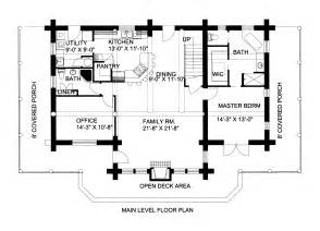 Log Home Floor Plans With Loft by 2700 Sq Ft Log Cabin Home Design With Loft