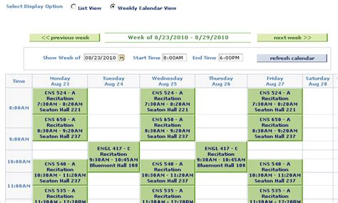 South Mba Class Schedule by Viewing Printing Your Class Schedule