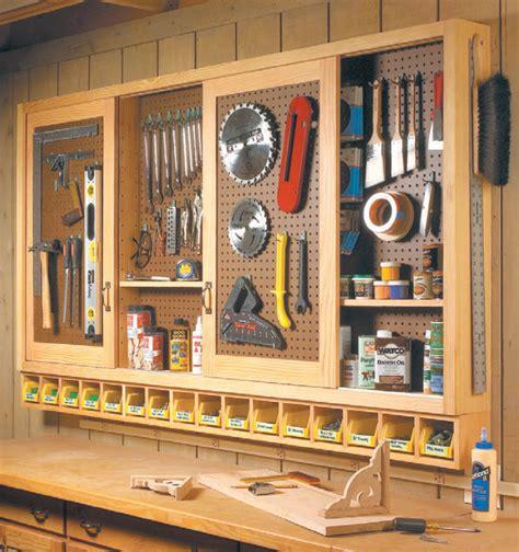 Pegboard Cabinet Doors Sliding Door Shop Cabinet Woodsmith Shop Tools Jigs Techniques Pinterest Shop Cabinets