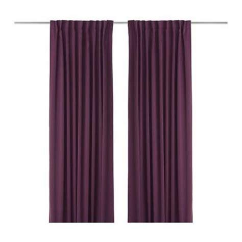 ikea 98 inch curtains ikea werna window curtains 57 x 98 quot purple 2 panels