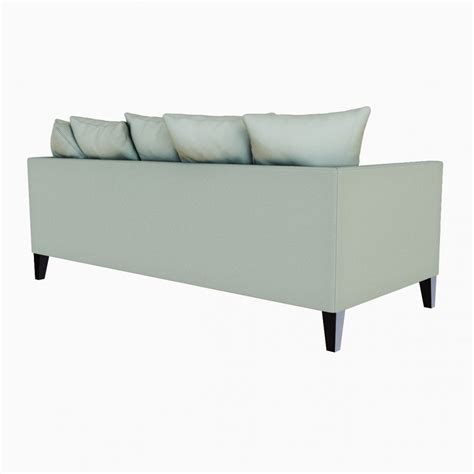 down filled couches west elm dunham down filled sofa toss back 3d model