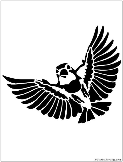 printable stencils of birds bird stencil printable coloring home