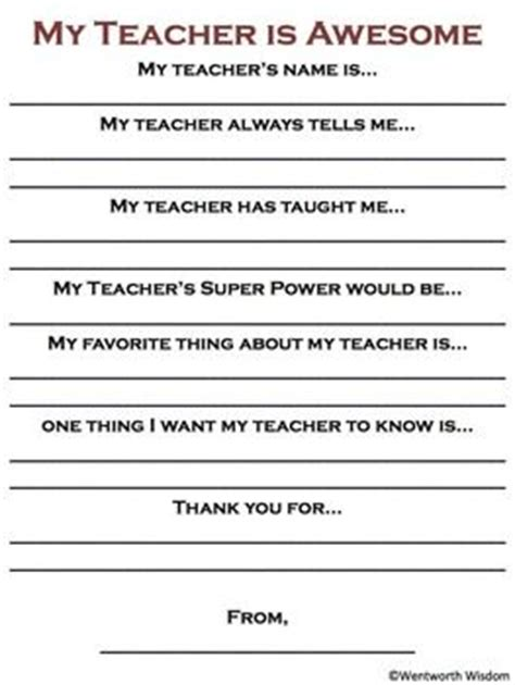 appreciation letter to parents from room free appreciation day activity tpt free lessons