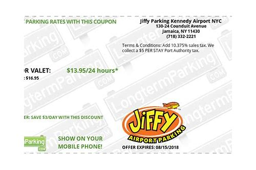 new york airport parking coupons