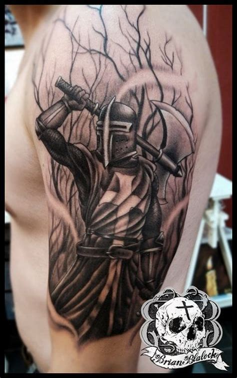 black and grey knight tattoo tattoo s on pinterest knight tattoo knights and skull