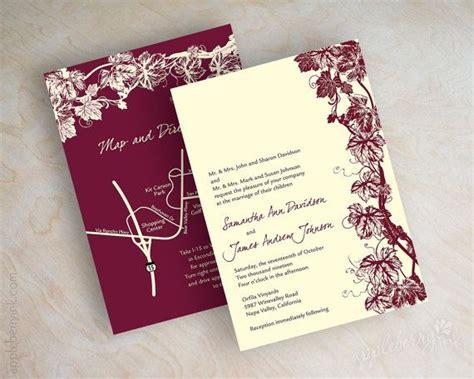 Grape Theme Wedding Invitations by Best 25 Winery Wedding Invitations Ideas On