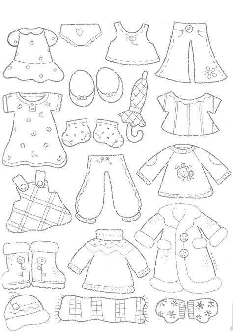 imagenes para colorear ropa dibujos para colorear de ropa de primavera imagui