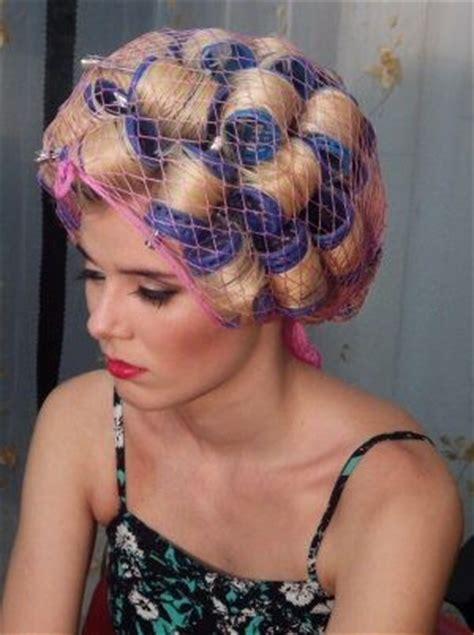 he got a feminine perm camilacolor1 rollersetting pinterest salons vintage
