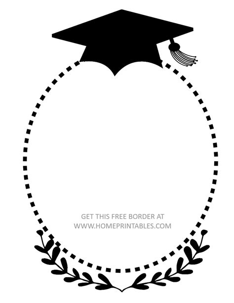 15 Free Graduation Borders With 5 New Designs Home Printables Free Clip Templates