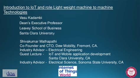 Executive Mba Santa Clara by Intro To Iot The Of Lwm2m Technologies Of