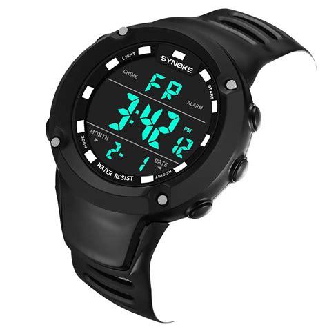 Jam Tangan Sport Pria Digital synoke jam tangan digital sporty pria 9638 black
