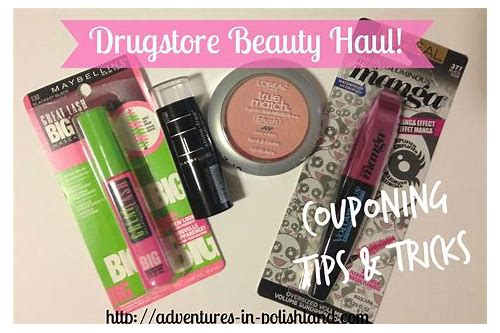 drugstore makeup couponing