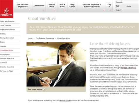 emirates unaccompanied minor complimentary chauffeur airport transfers which airlines