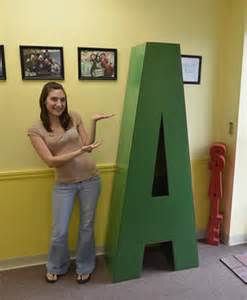 letters and numbers giant big oversized made from