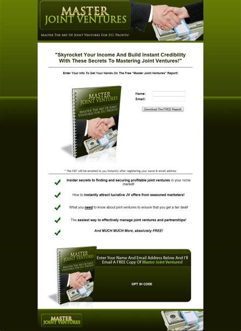 Joint Venture Giveaways - master joint ventures giveaway report