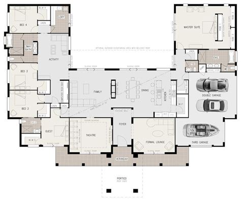 lakefront home floor plans u shaped lakefront house plans google search cabin
