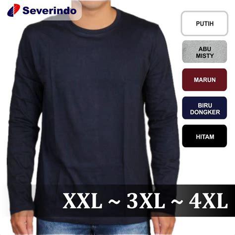 Kaos 5xl Big Size baju kaos lengan panjang kaos polos cowok big size