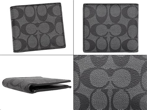 Dompet Pria Coach F75006 Charcoal Black Original import collection rakuten global market coach coach purse billfold 8cc wallet special