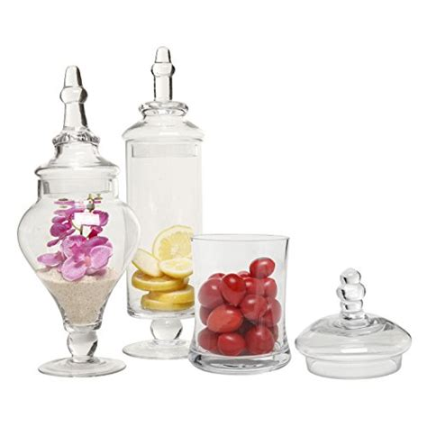 decorative apothecary jars designer clear glass apothecary jars 3 set
