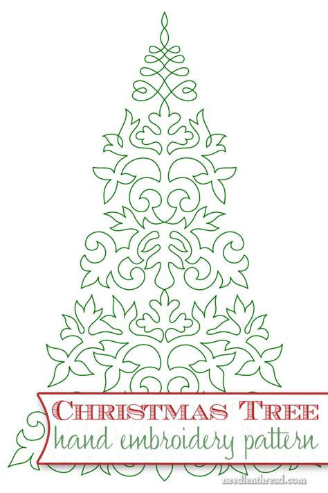 christmas tree hand embroidery pattern embroider a christmas tree needlenthread com