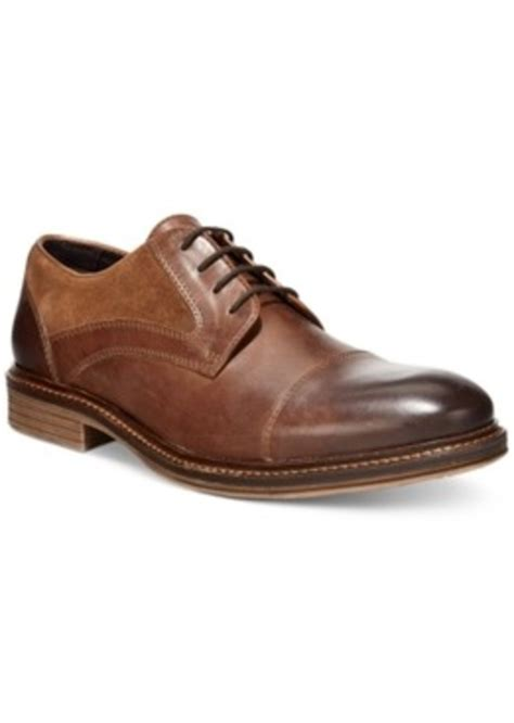 macy s oxford shoes alfani alfani morris mixed media cap toe oxfords only at