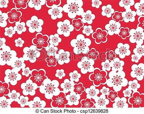 Japanese Style Home Plans Japanese Style Design Of Plum Blossoms Background Clip Art