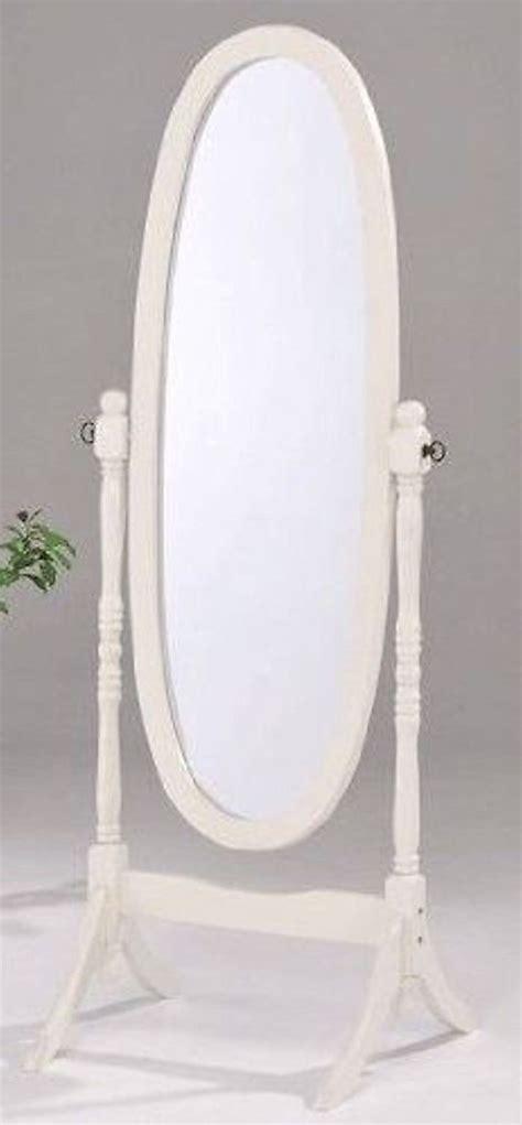 White Floor Length Mirror by Swivel Length Wood Cheval Floor Mirror White Black