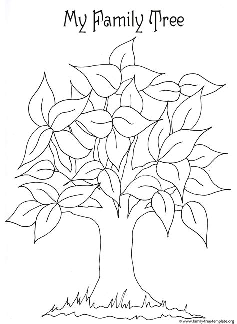 tree coloring page pdf best photos of printable tree template bare tree with