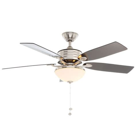 hton bay brushed nickel ceiling fan hton bay santa cruz 52 in indoor brushed nickel