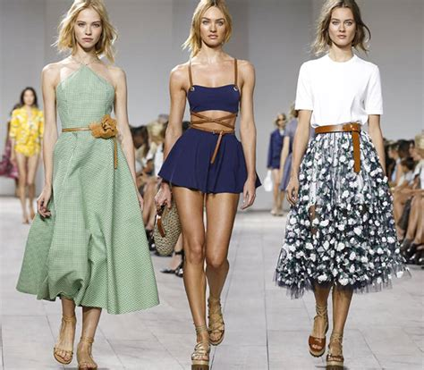 New Season Trends Belts by Micheal Kor Summer Fashion Show