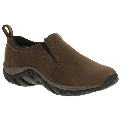 merrell mens slippers merrell s jungle moc nubuck shoes brown